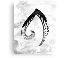 Alphabet Letter A Monochrome Watercolour Canvas Print