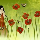 Poppy field - Card by franzi