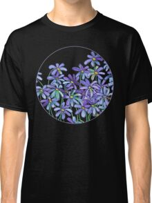 Purple Daisies in Watercolor & Colored Pencil  Classic T-Shirt