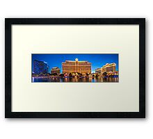 Panorama of the The Bellagio Hotel and Casino  Framed Print