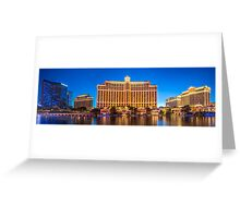 Panorama of the The Bellagio Hotel and Casino  Greeting Card