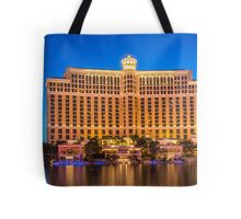Panorama of the The Bellagio Hotel and Casino  Tote Bag