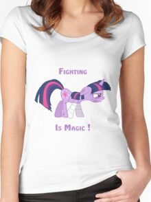 Fighting is Magic ! Women's Fitted Scoop T-Shirt