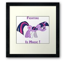 Fighting is Magic ! Framed Print