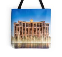 The Bellagio Hotel and Casino along the Strip in Las Vegas, Nevada. Tote Bag
