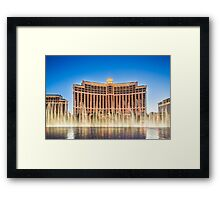 The Bellagio Hotel and Casino along the Strip in Las Vegas, Nevada. Framed Print