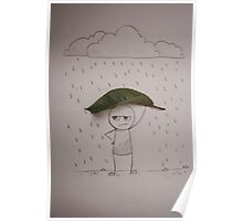 Bad mood on a rainy day Poster