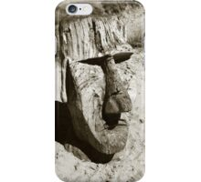 Easter Island Carving, Barmouth Beach iPhone Case/Skin