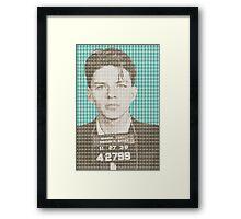 Sinatra Mug Shot - Light Blue Framed Print