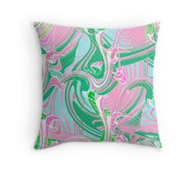 Abstraction. Wave . Throw Pillow
