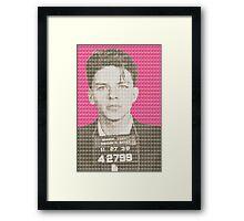 Sinatra Mug Shot - Pink Framed Print