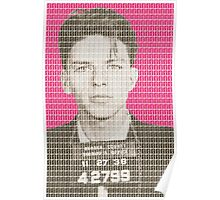 Sinatra Mug Shot - Pink Poster