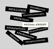 Hashtag Allison - Black & White by PG-stuff