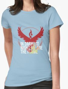 Team Valor - In Darkest Night We are the Flame Womens Fitted T-Shirt