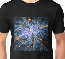 Blue Butterfly - Abstract Fractal Artwork Unisex T-Shirt