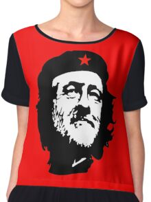 CORBYN, Comrade Corbyn, Leader, Labour Party, Black on RED Chiffon Top