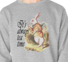 White Rabbit Alice in Wonderland Vintage Art Pullover