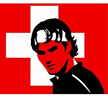 Roger Federer (Official Genius Banner Design) Photographic Print