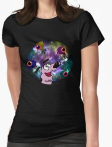 Courage Dog And The Aliens Womens Fitted T-Shirt