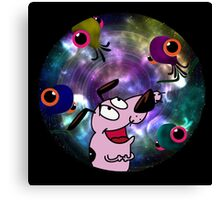 Courage Dog And The Aliens Canvas Print