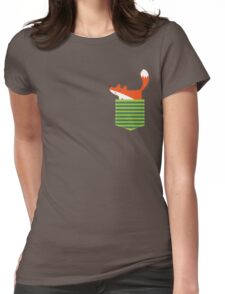 fox in my pocket Womens Fitted T-Shirt