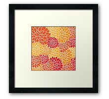 Floral pattern (red, yellow and orange) Framed Print