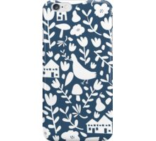 silhouette - navy iPhone Case/Skin