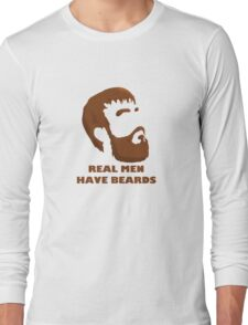 Real Men Have Beards Long Sleeve T-Shirt