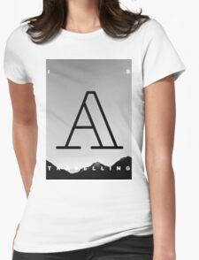 A is Travelling Womens Fitted T-Shirt