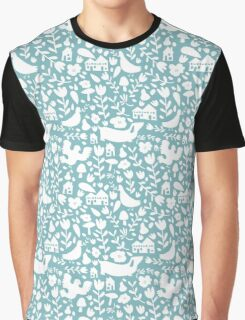 silhouette - ducks egg blue Graphic T-Shirt