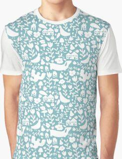 silhouette - ducks egg blue Graphic T-Shirt