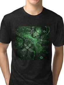 Green Garden - Abstract Fractal Artwork Tri-blend T-Shirt