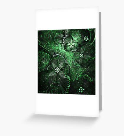 Green Garden - Abstract Fractal Artwork Greeting Card