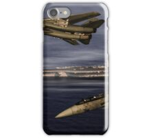 F-14 and the USS Nimitz iPhone Case/Skin
