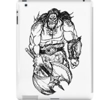 Barbarian Sketch iPad Case/Skin