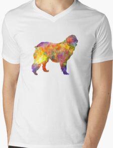 Leonberger in watercolor Mens V-Neck T-Shirt