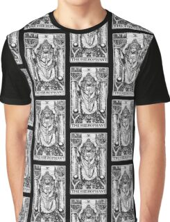 The Hierophant Tarot Card - Major Arcana - fortune telling - occult Graphic T-Shirt