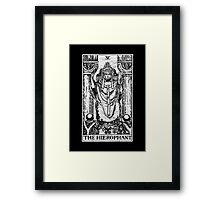 The Hierophant Tarot Card - Major Arcana - fortune telling - occult Framed Print