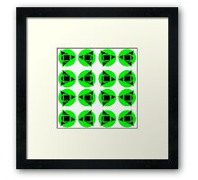 Green & black pattern Framed Print