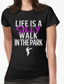 Silly Walks Womens Fitted T-Shirt