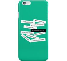 Hashtag Allison - White & Black iPhone Case/Skin