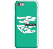 Hashtag Allison - White & Black iPhone Case/Skin