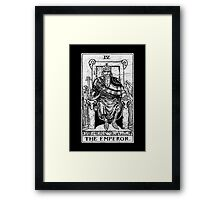The Emperor Tarot Card - Major Arcana - fortune telling - occult Framed Print