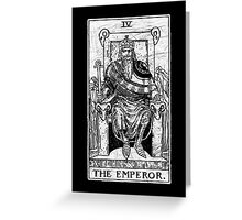 The Emperor Tarot Card - Major Arcana - fortune telling - occult Greeting Card