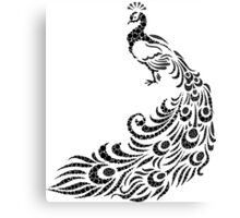 A peafowl and his wonderful plumage Canvas Print