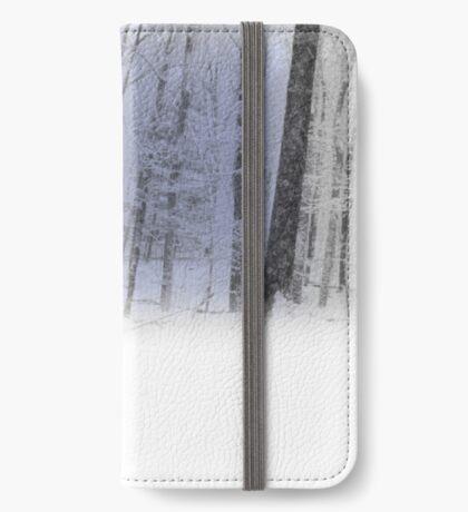 Misty Winter Forest Scene iPhone Wallet/Case/Skin