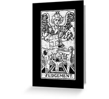 Judgment Tarot Card - Major Arcana - fortune telling - occult - Judgement Greeting Card