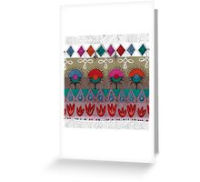 the rhyme of repetitive elements - fire, water, earth, air Greeting Card