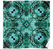 Dark Mandala - Abstract Fractal Artwork Poster