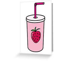 Strawberry Milk Greeting Card
